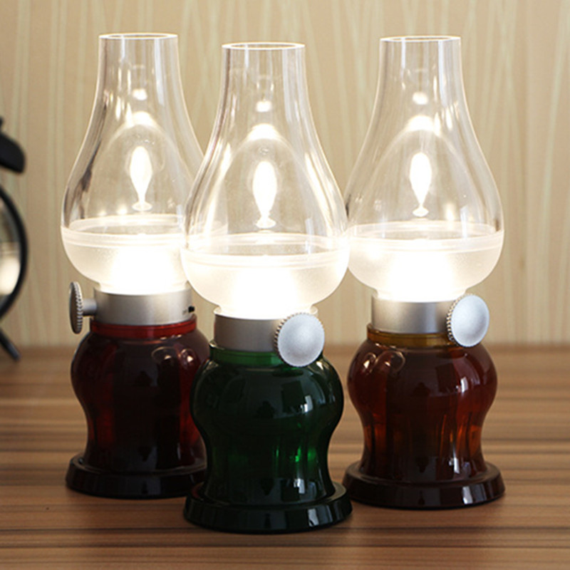 Refro Classic Blow Led Lamp USB Rechargeable Blowing Control Kerosence Candle Night Light Nightlight Desk Table Lamp<br><br>Aliexpress