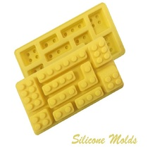 1 PC Building Bricks & Figures Shape Silicone Mold Robot Top Quality Cake Mold Baking Chocolate Ice Cube(China)
