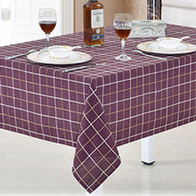 USPIRIT Modern Simple Large Lattice Table Cloth Tablecloth Fabric Nappe Table Cover Custom Dyed Color Multi Sizes Table Cover