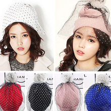 New Women Stylish Knitted Hat Cap Supermodel Net Yarn Wool Hat Autumn Winter Hat Beanies Freeshipping