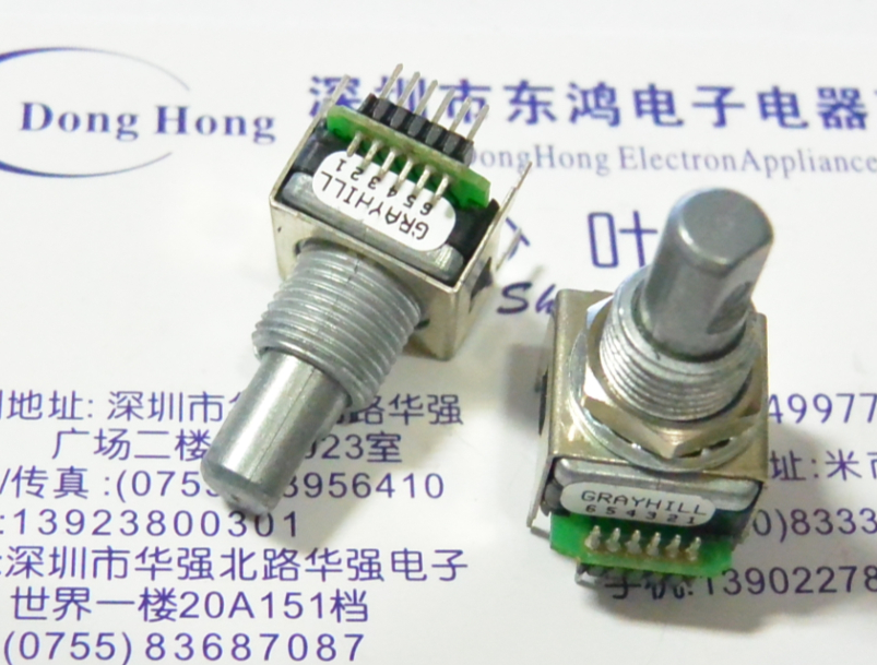 2PCS/LOT American Standard GRAYHILL photoelectric encoder, with press switch, 62SY15019 code switch<br>