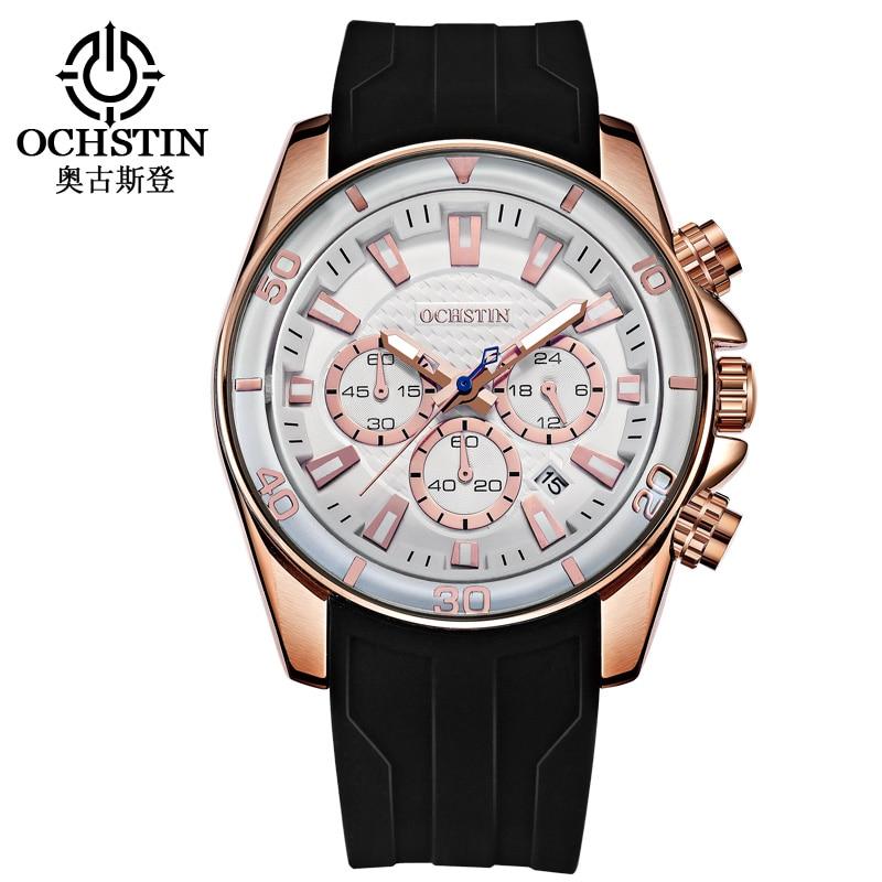 Sport Watches Men Top Brand Luxury OCHSTIN Clock Silicone Casual Quartz Army Military Wrist Quartz Watch Male Relogio Masculino<br>