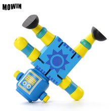 MOWIN Movable Joints Wooden Transformation Robot Figures Toy Building Blocks Rotat Puppet Jointed Mannequin Action Table Deco