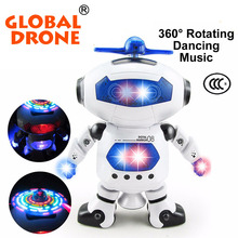 Global Drone Stunt Kidrobot Walking Superhero Dance Electric Robot With Light Music Musical Toy For Children Adult Action Figure
