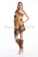 Free shipping new cosplay Classic Halloween ZY458 Ladies Fancy Dress Costumes Wild West Indian costume s-2xl