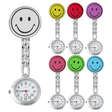 Smile Face Nurse Fob Brooch Pendant Watch Portable Pocket Watch Clip Watches Medical Use Pocket Quartz Clasp Watch 2017 New