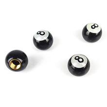 4pcs 8 Ball Tire Tyre Air Valve Stem Caps Wheel Rims Universal Ball Tire Valve Caps Auto Car Truck Mountain Bike Billiards Pool