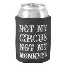 Not My Circus Not My Monkeys Funny Polish Saying Can Cooler Wedding & Home Accessories Beer Can Holders Baby Shower Drink Cooler