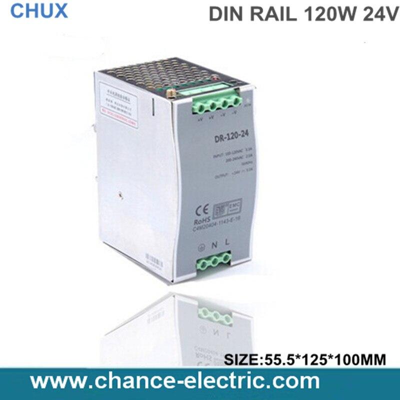 (DR-120-24) 24v 5a din rail power supply 120w 24V DIN Rail power supply for led light free shipping<br><br>Aliexpress