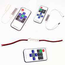 DC5-24V Mini Single Color RGB Led Dimmer Controller With Wireless RF Remote Control For 2835 3014 3528 5050 5630 Led Strip Light(China)