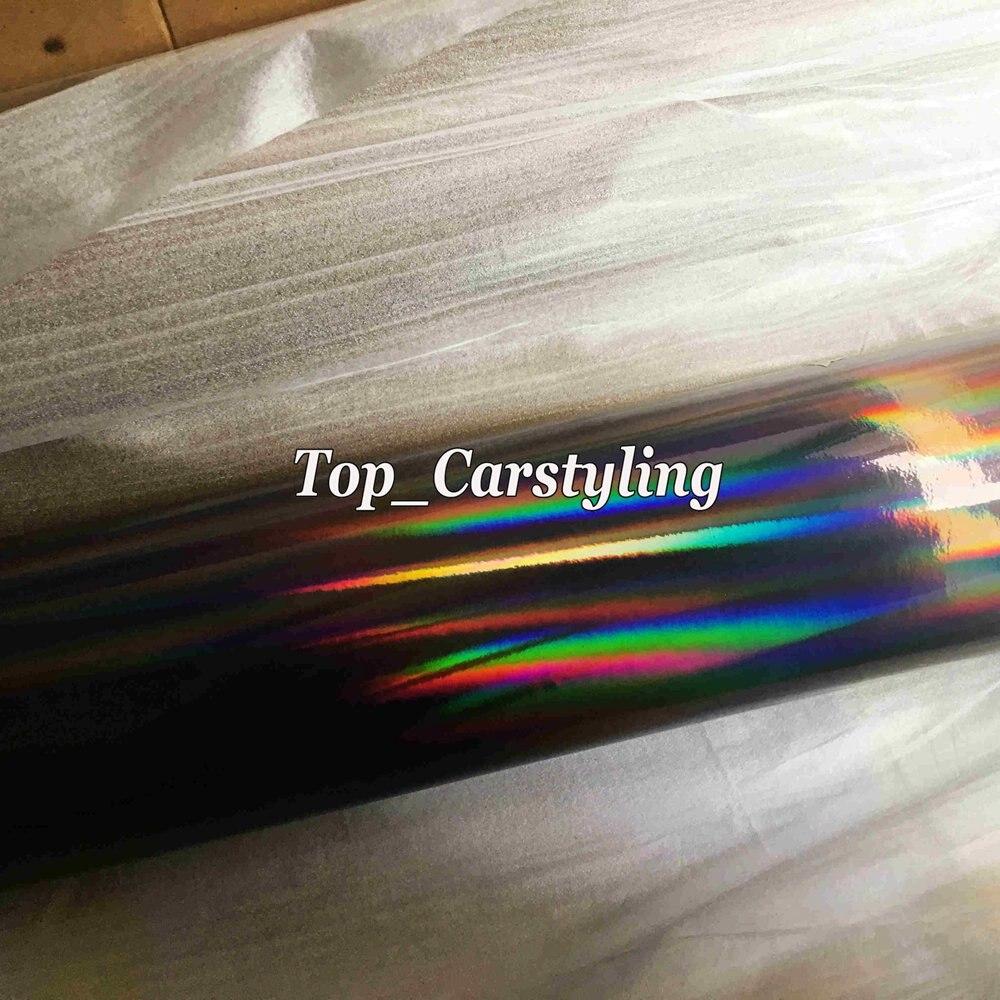 holographic chrome hologram black car wrap foil apa cast vinyl rainbow chameleon (1)