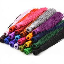 10pcs/lot 120mm Mixed Cotton Silk Tassels Earrings Charm Pendant Satin Tassels for DIY Jewelry Making Findings Materials Z19