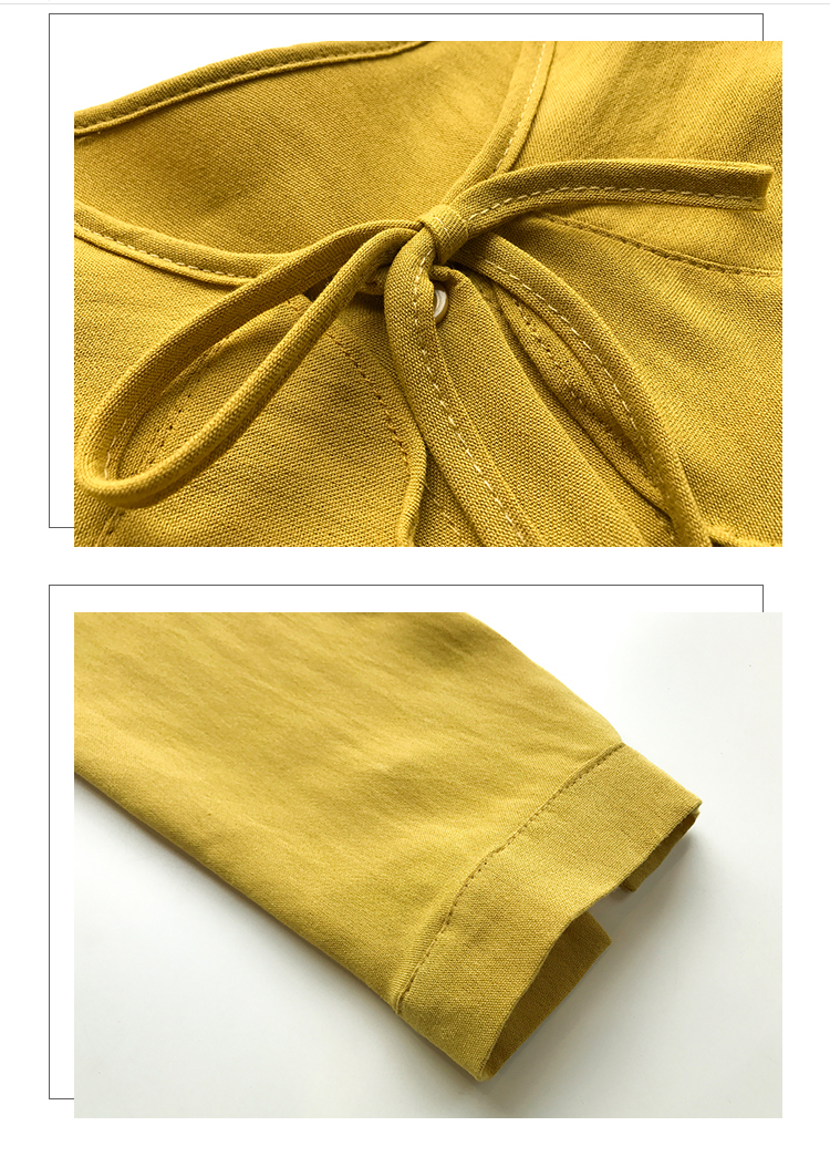 Kimono Cardigan Cotton Linen Peter Pan Collar Womens Tops and Blouses Tie Bow Shirt Loose Oversized Casual Ruffles Blouse Women 15 Online shopping Bangladesh