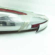 Car Silver Chrome Molding Trim Strip 15meters*20mm For Window Grille Door Bumper Body Strip Automobile DIY Decoration