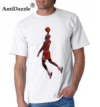 Antidazzle Michael JordanTake Flight! Men's T shirt Printed Casual Cartoon T-shirt Punk Funny Tees Tops Design Hipster