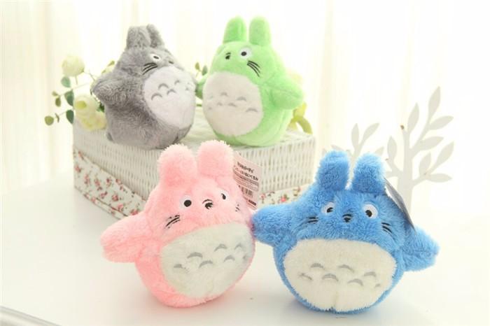4pcs/lot My Neighbor Totoro Figure Plush Toys Colorful Totoro Action Figure<br><br>Aliexpress