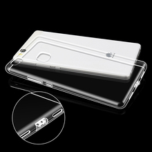 Case For Huawei P9 Lite Silicone Back Cover Rubber Ultra Thin Phone Bag Case Luxury Brand Clear For Huawei P9 Lite