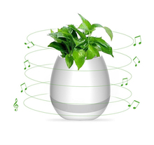 Creative Bluetooth Smart Music flowerpot Speaker K3 Intelligent Touch Plant Piano Music Flower Pot with colorful LED Night Light(China)
