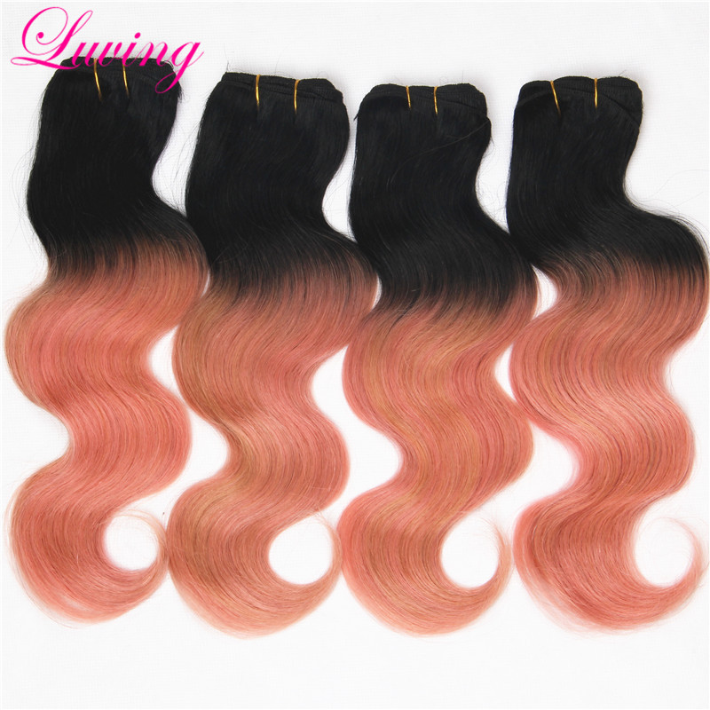 Ombre Hair Extensions Rose gold with dark roots Peruvian Body Wave Virgin Hair 4Pcs Soft Peruvian Ombre Human Hair Weave Bundle<br><br>Aliexpress