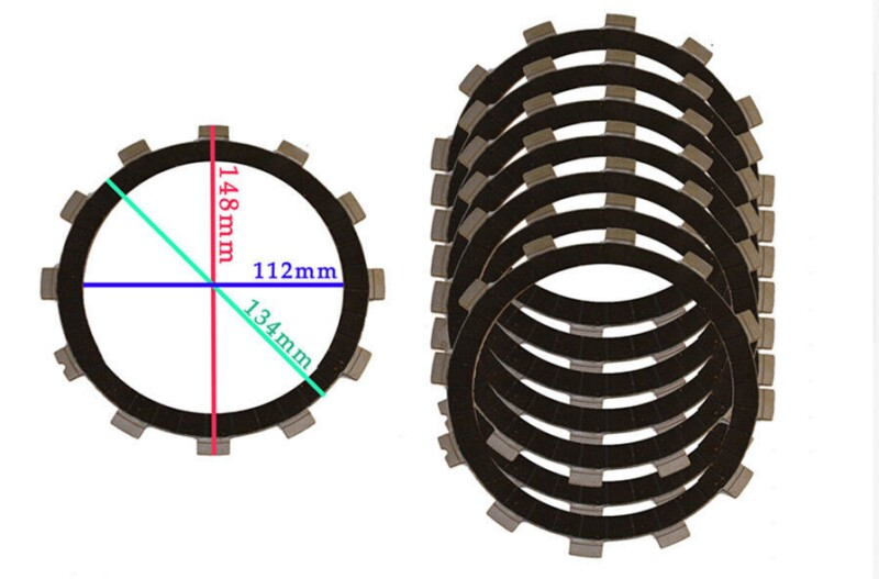 mMotorcycle Clutch Plate Kit For Yamaha FZS1000 2001-2005 FZ6 FZ1 XJR400 YZF R6 YZF-R6 8pcs<br>