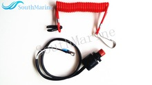 Boat Motor Kill Stop Switch & Safety Tether Lanyard for Yamaha  / Tohatsu Outboard Motor Parts , Free Shipping