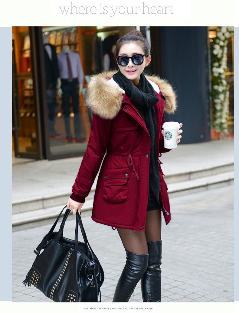 معطف السيدات متوسطة الطويلة 12