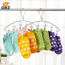 ORZ Multifunctional Stainless Steel Clothes Socks Shorts Underwear Drying Rack Hanger Cleaning Tools Laundry Hangers Racks(China)