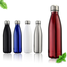 1 PCS Insulated Double Wall Vacuum Stainless Steel Water Bottle Cola Shaped 5 Colors