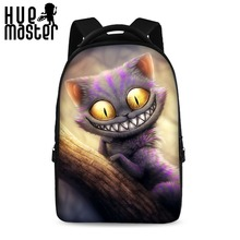 HUE MASTER 17 inch backpack 3D printing World of Warcraft unicorn bags Casual business package can store 15.6 laptop bag pack