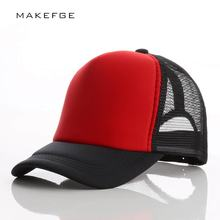 Women's Baseball caps Men and Women Summer Snapback Hat Cotton Foam Mesh Breathable Trucker Cap Neon Color Baseball Bread Cap(China)