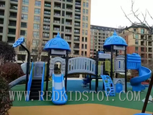 Exported to US Quality Warranted Anti-rust Playground Set Outdoor Playground Structure HZ16-021a