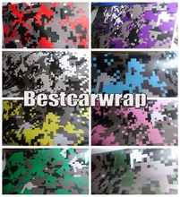 Digital Camouflage Vinyl Car Wrap VARIOUS COLOURS Red / orange & purple Air BUBBLE Free Printed Truck Car Wrapping 1.52x20m/Roll
