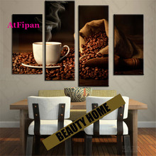 AtFipan Unframed Coffee Kitchen Painting Canvas Wall Spray Painting Modern Decorative Canvas Art Work Prints On The Living Room