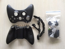 High Quality For Xbox360 Wireless Controller Housing Shell Black for Xbox 360 Joystick Whole Housing Case