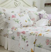 WINLIFE Colorful Butterfly Bedroom Set Pink Floral Bedding Collections(China)