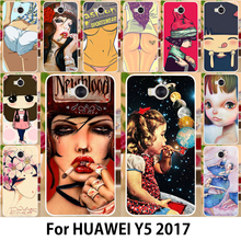 Fashon Painting Phone Cover For Huawei Y5 2017 PC TPU Case For Huawei Y5 III Y5 3 Y6 2017 MYA-L22 MYA-L03 MYA-L23 MYA-L02 Covers