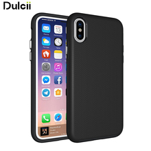Phone Case For Apple iPhone X/10 Anti-skid Hybrid PC + TPU Armor Mobile Casing for iPhone X/10 - Black