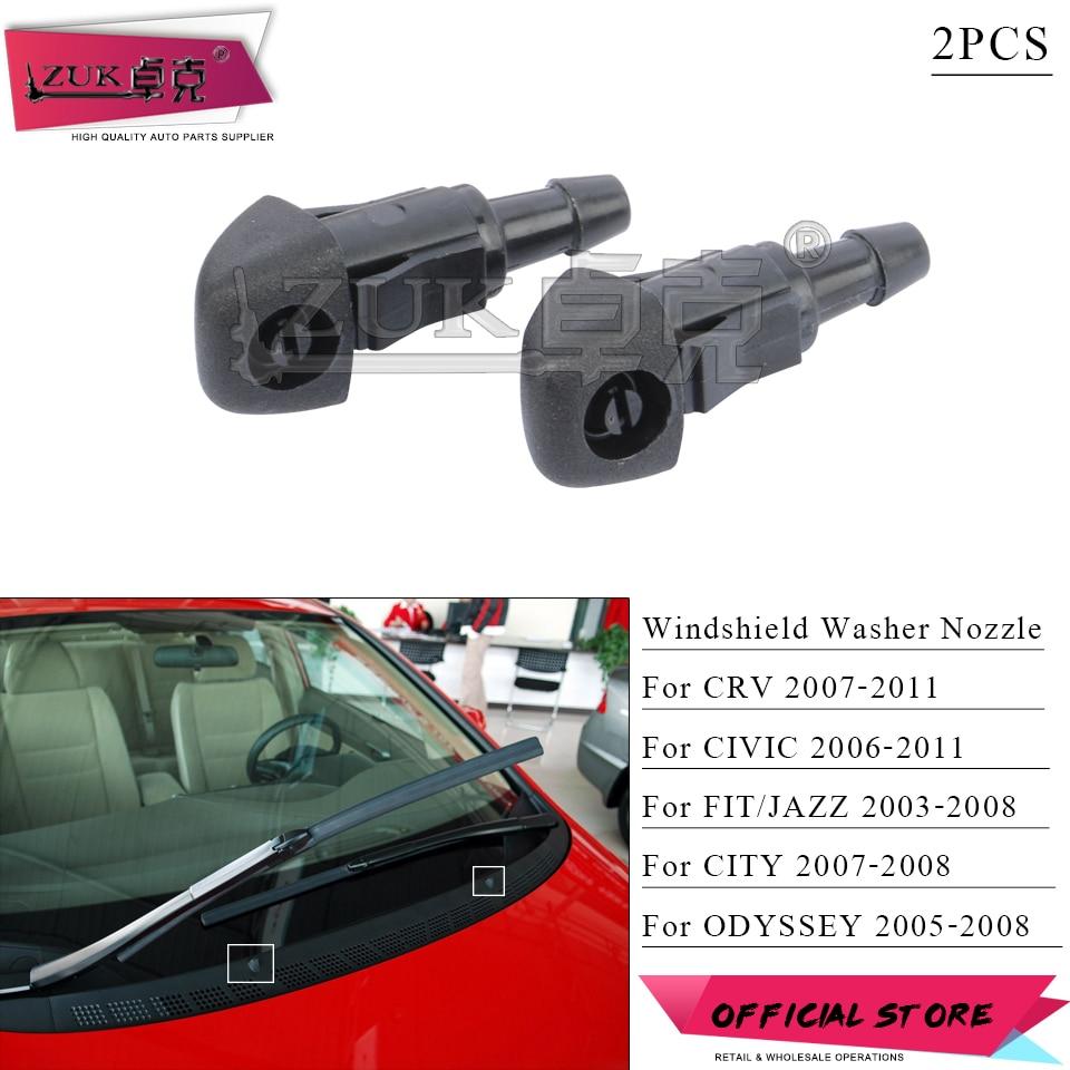 Windshield Nozzle ABS Car Windscreen Wiper Nozzle Compatible with CIVIC CITY CR-V JAZZ PRELUDE Windscreen Washer Nozzle