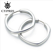11.11 Super Deal Earrings E123 Hoop Earring silver Women cute lovely Wholesale bulk lady gift Item fgda nxka on Sale CYPRIS
