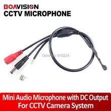 Audio pick up 9-14V DC Power Mini High Sensitive CCTV Microphone Wide Range for Security Camera Audio Surveillance DVR