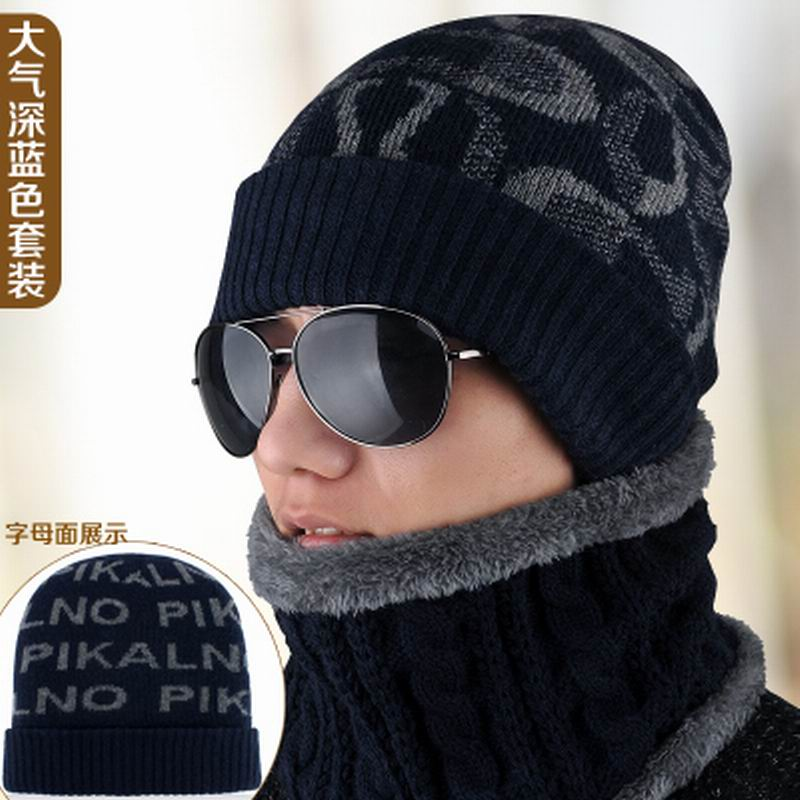 Hat male winter knitted hat double layer thickening collars pullover knitted hat winter warm hat thermal scarfОдежда и ак�е��уары<br><br><br>Aliexpress