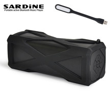 Sardine Powerbank Anti knock waterproof Bluetooth Speaker, wireless USB 6W Sound Box TF HIFI good quality column Outdoor charge