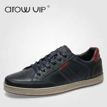 arow VIP Brand Genuine Leather Men Casual Shoes, New Arrive Leather Men Shoes, Fashion Casual Shoes For Men(China)