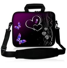 "Hearts Purple Laptop Shoulder Bag Case Sleeve+Handle For 16"" 15"" 15.6"" 13"" 13.3"" 11.6"" 17"" 17.3"" HP Dell Acer Laptop Tablet(China)"