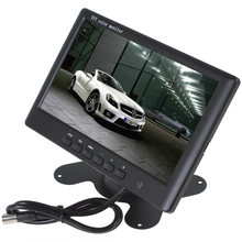 Brand New HD 800 x 480 Super Thin 7 Inch Color TFT LCD 2 Channels Video Input Car Monitor + E306 18mm Color CMOS/CCD Car Camera