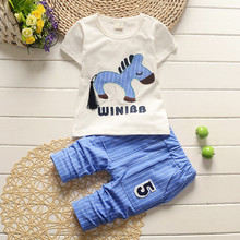 Summer Toddler boy clothing set Boutique Brand Infant baby Clothes 2Pcs Cartoon Pattern Soft Cotton 2t 3t 4t