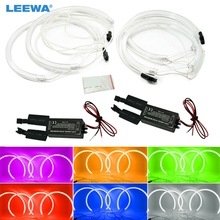 LEEWA 4x Car Headlight CCFL Angel Eyes Light Halo Rings Kits Light For BMW X5(E53) DRL White/Blue/Green/Yellow/Red #CA3899(China)