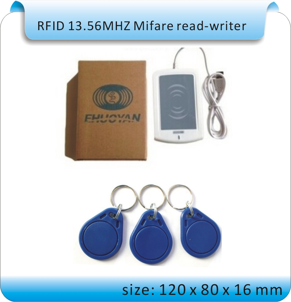 ER301  RFID 13.56MHz USB NFC Read- Writer + SDK + IC card and NFC Tag + software  Reader ISO14443A 1K S50 4K S70<br>