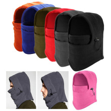 New Winter Men Thermal Fleece Balaclava Hat Hooded Neck Warmer  Face Mask  Bike Motorcycle Helmet Beanies Cap H9