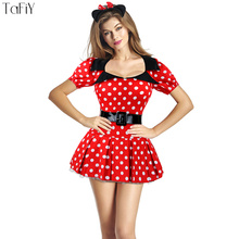 TaFiY 2017 Sexy Minnie Mouse Costume For Girls Fancy Dress For Adult Women Halloween Party Club Cosplay Role Playing Costumes